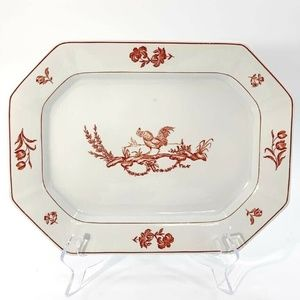 Vintage Ironstone Rooster Platter Farmhouse Chic